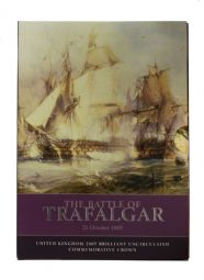 2005 £5 Trifalgar Royal Mint Brilliant Uncirculated pack for sale